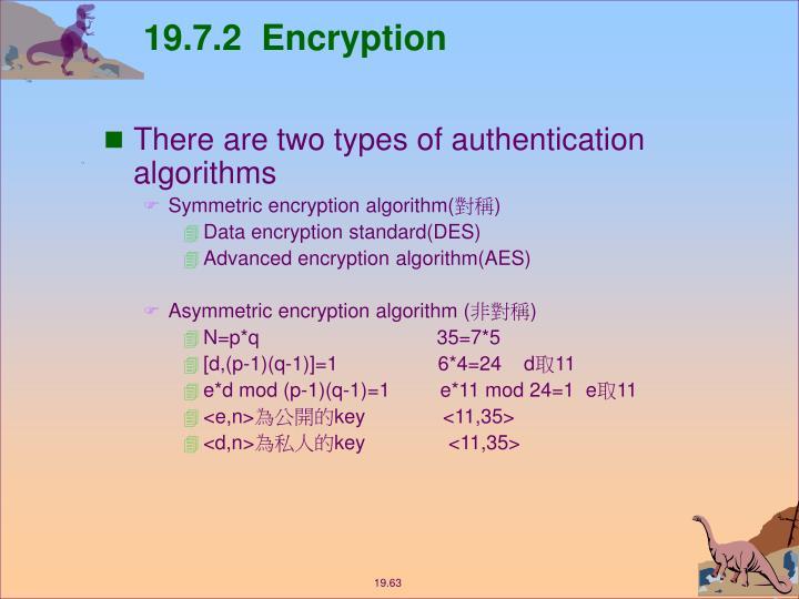 19.7.2  Encryption