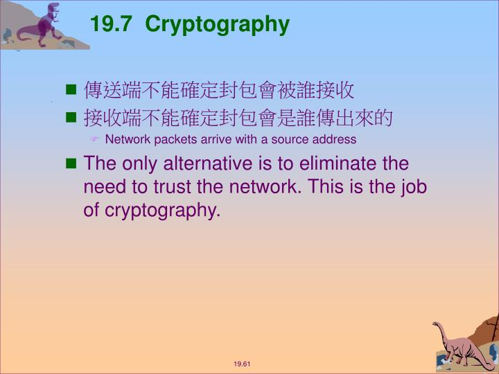 19.7  Cryptography