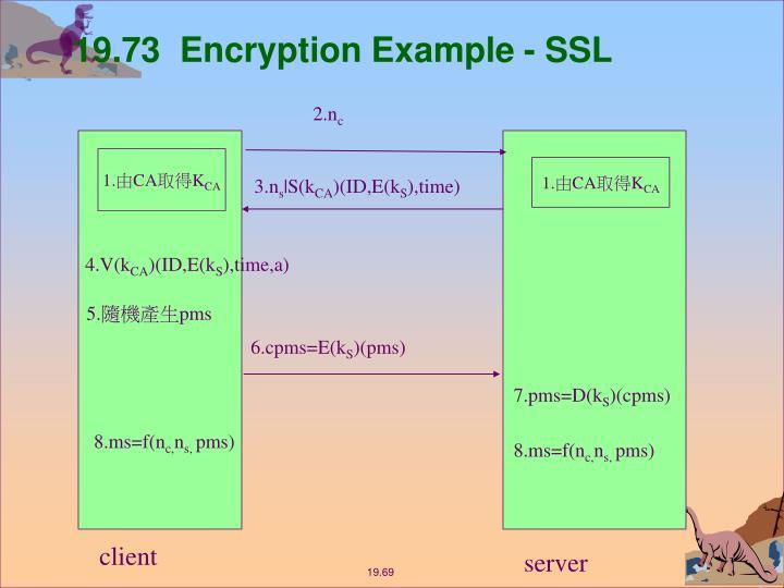 19.73  Encryption Example - SSL