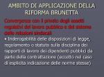 ambito di applicazione della riforma brunetta1