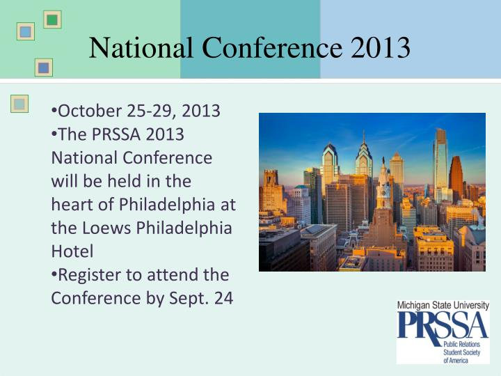 National Conference 2013