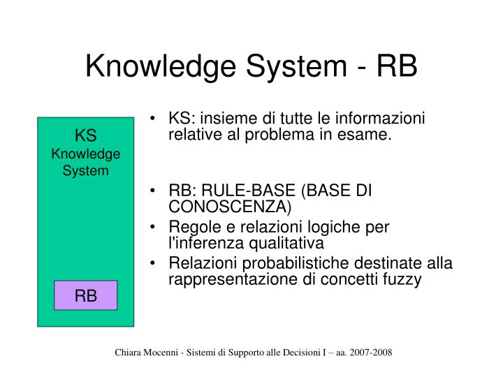 Knowledge System - RB