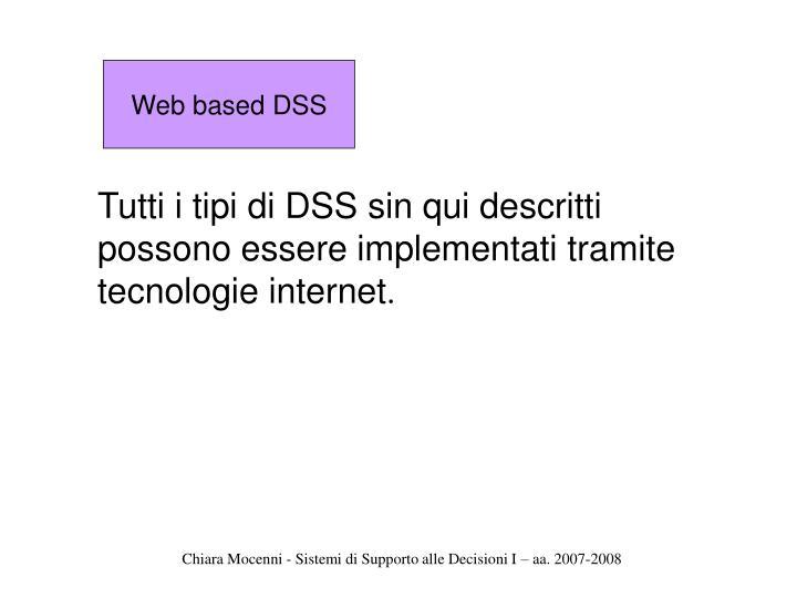 Web based DSS
