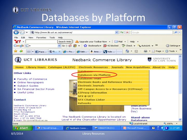 Databases by Platform