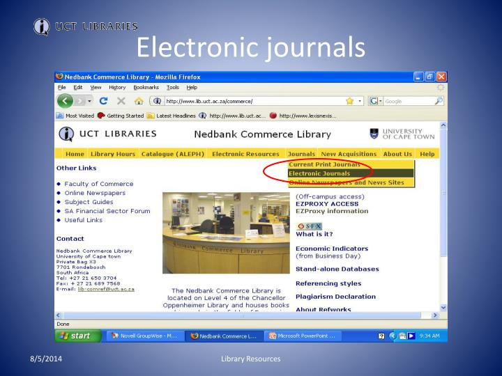 Electronic journals