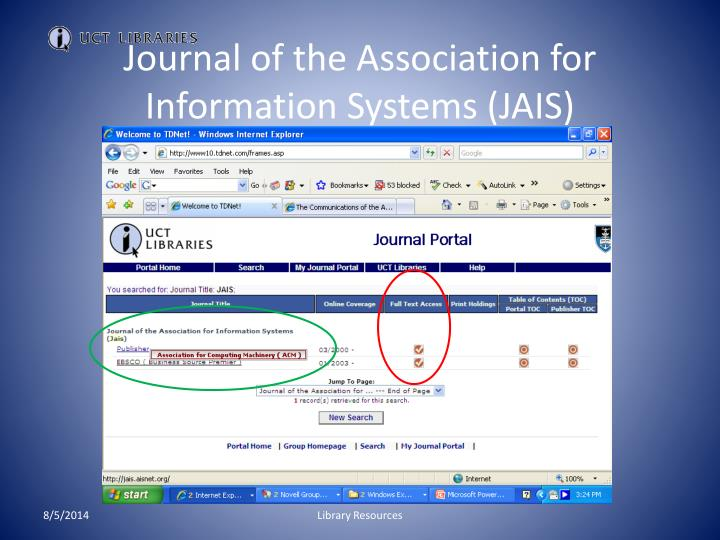 Journal of the Association for Information Systems (JAIS)