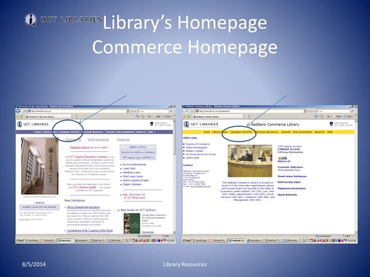 Library's Homepage