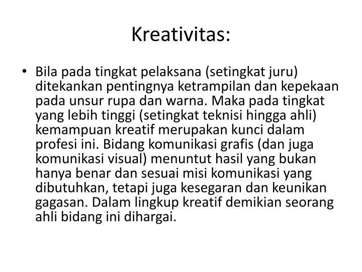 Kreativitas: