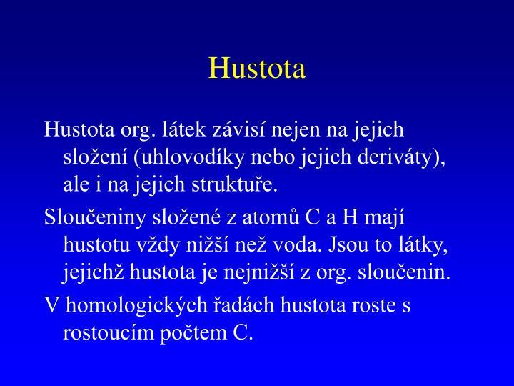 Hustota