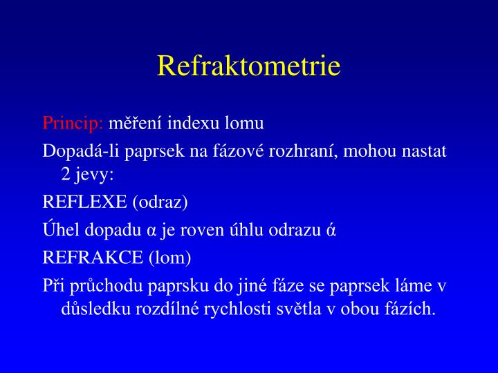 Refraktometrie