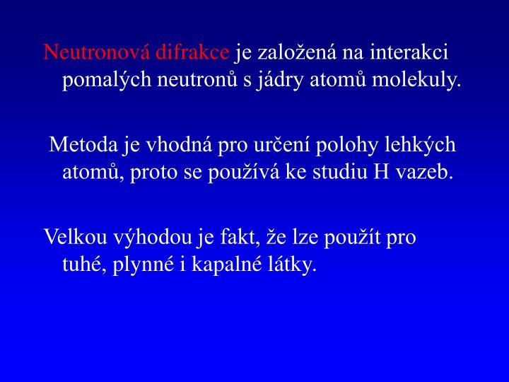 Neutronová difrakce