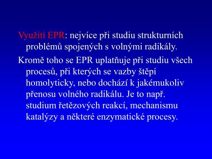 Využití EPR
