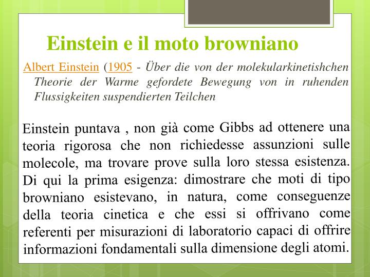 Einstein e il moto browniano