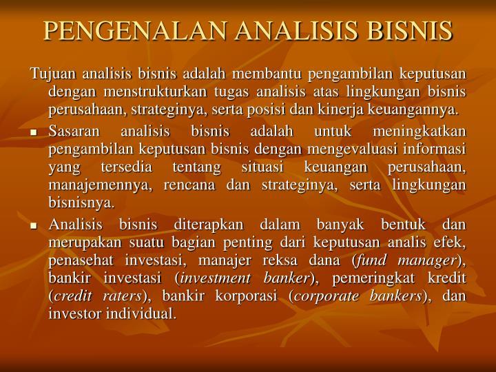 Pengenalan analisis bisnis