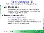 agile manifesto 3 follow these principles for developing software