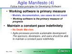 agile manifesto 4 follow these principles for developing software