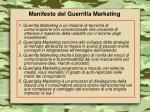 manifesto del guerrilla marketing