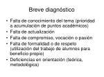 breve diagn stico