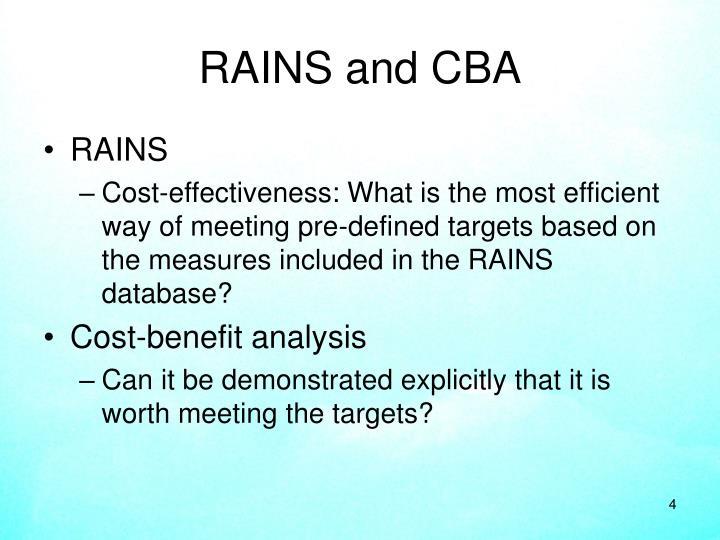 RAINS and CBA