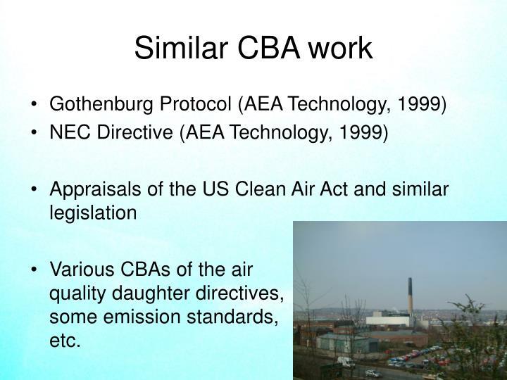 Similar CBA work