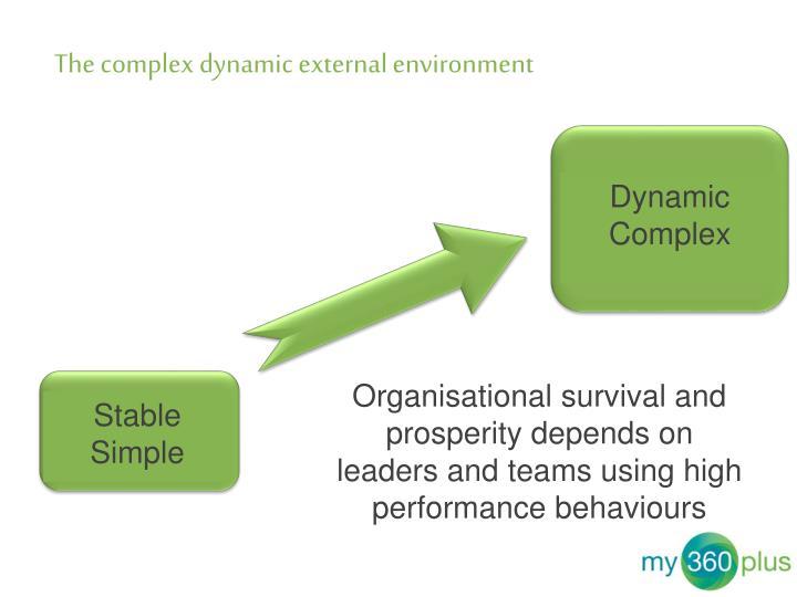 The complex dynamic external environment
