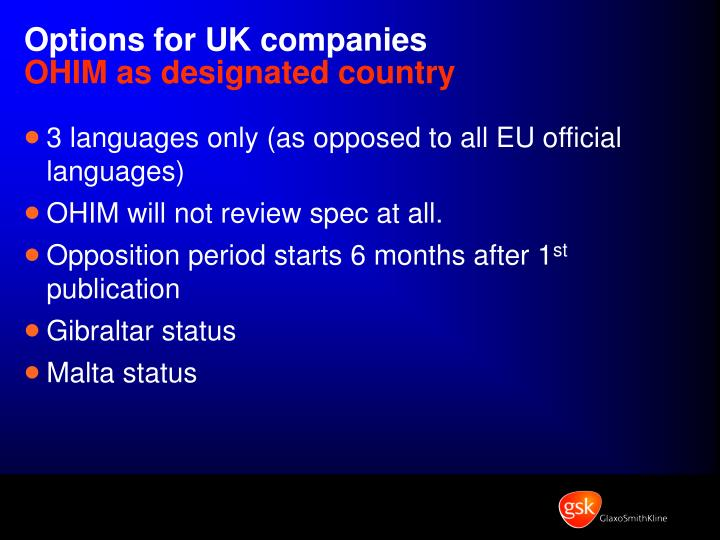Options for UK companies