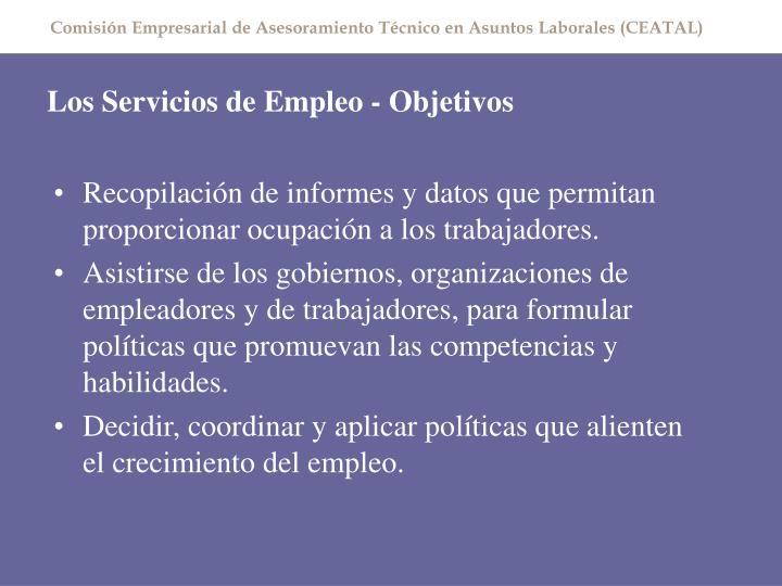 Los servicios de empleo objetivos