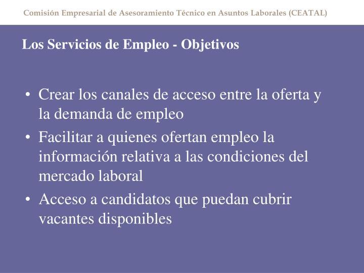Los servicios de empleo objetivos1