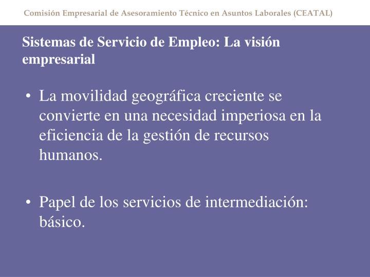 Sistemas de Servicio de Empleo: La visión empresarial