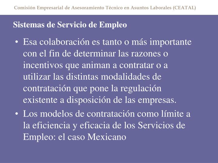 Sistemas de Servicio de Empleo