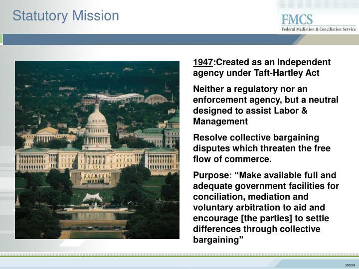 Statutory mission