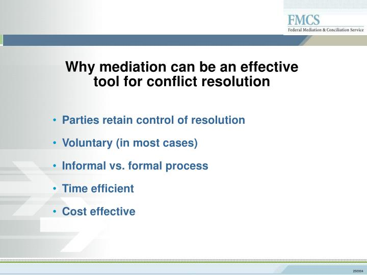 Why mediation can be an effective