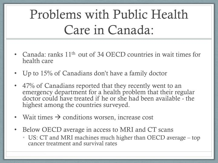 Problems with Public Health Care in Canada: