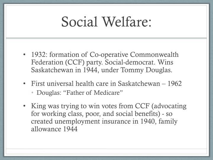 Social Welfare: