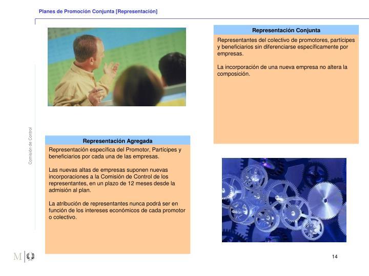 Planes de Promoción Conjunta [Representación]