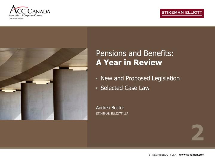 Pensions and Benefits: