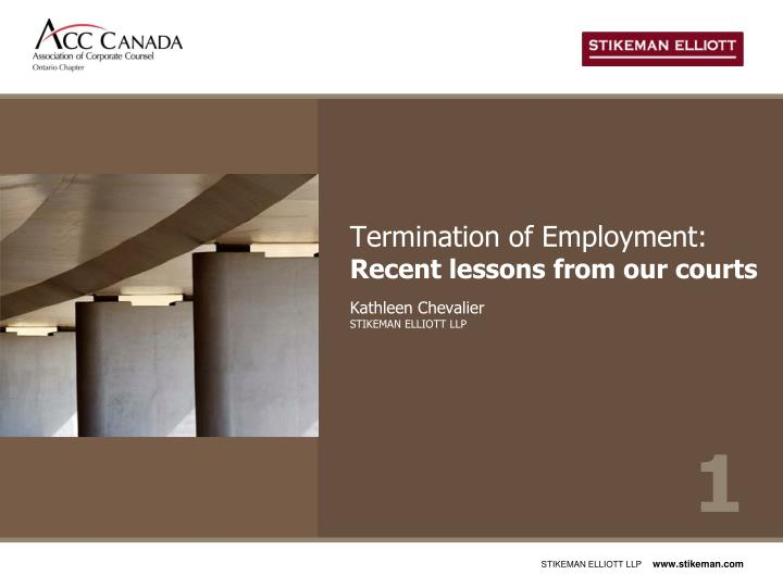 Termination of employment recent lessons from our courts