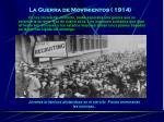la guerra de movimientos 1914