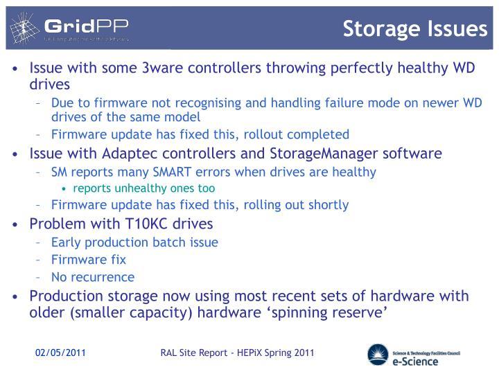 Storage Issues