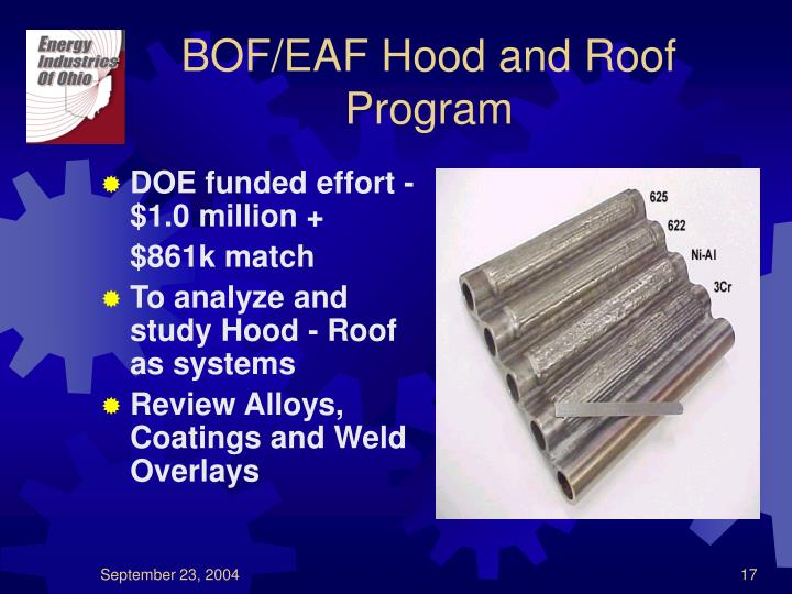 BOF/EAF Hood and Roof Program