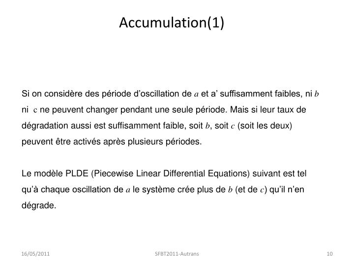 Accumulation(1)