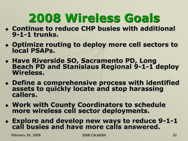 2008 Wireless Goals