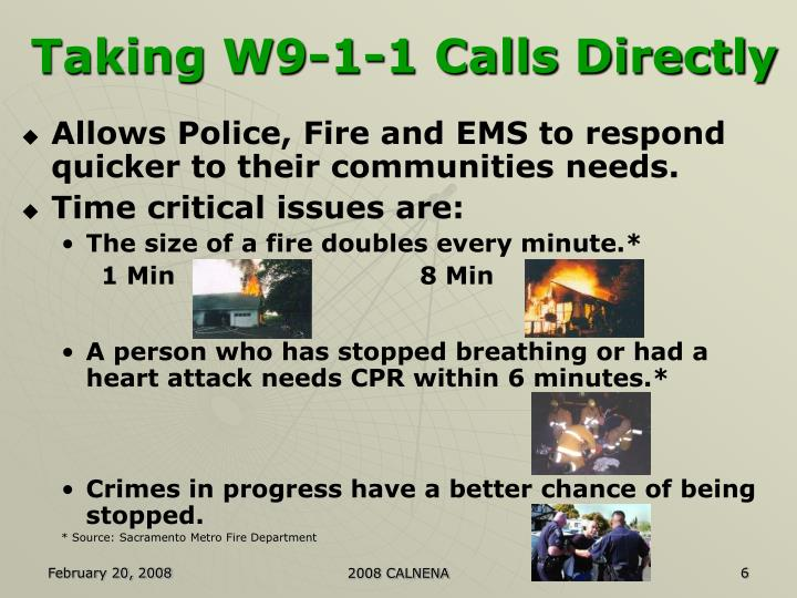 Taking W9-1-1 Calls Directly