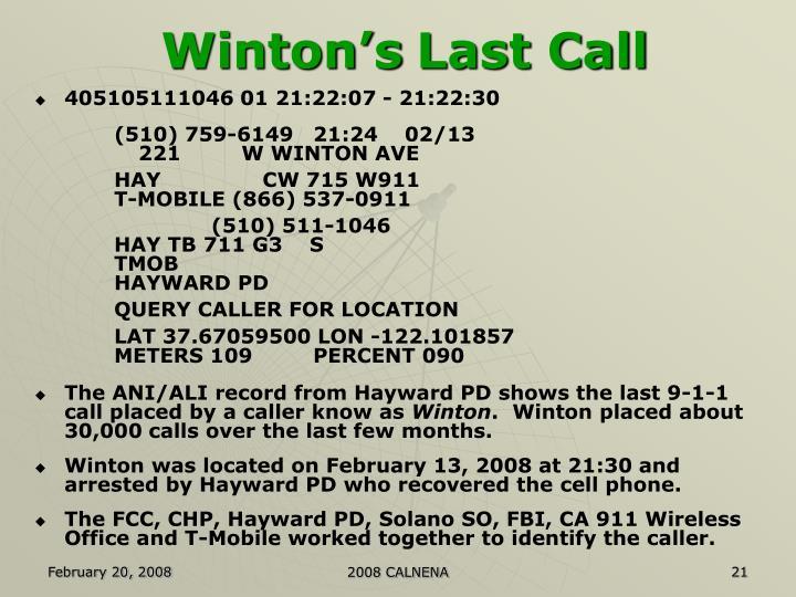 Winton's