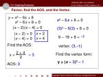 factor find the aos and the vertex