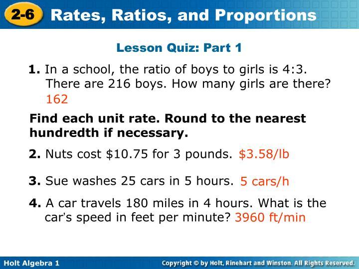Lesson Quiz: Part 1