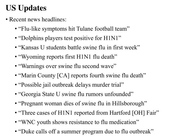US Updates