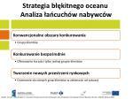 strategia b kitnego oceanu analiza a cuch w nabywc w