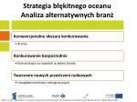 strategia b kitnego oceanu analiza alternatywnych bran
