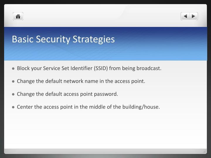 Basic Security Strategies